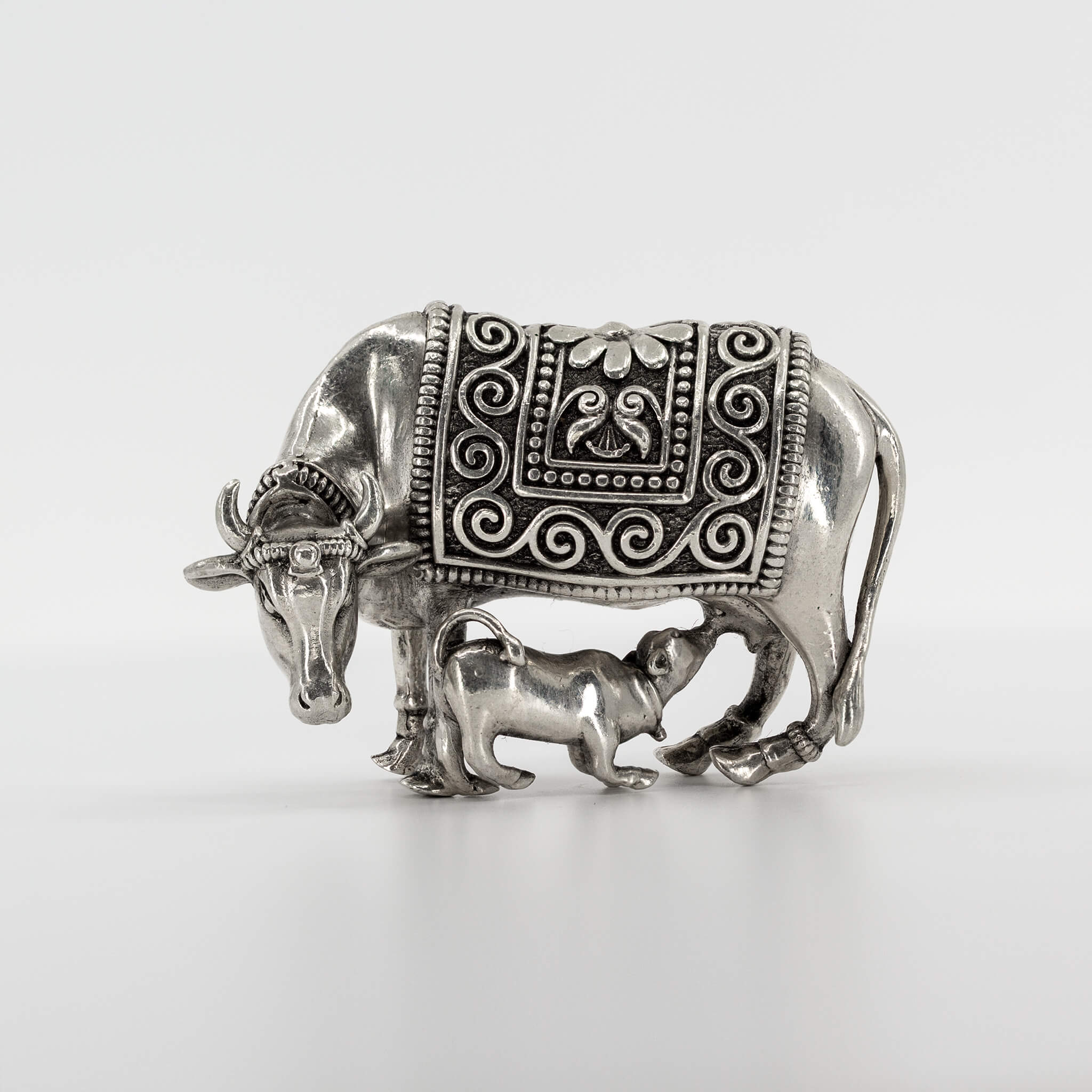 Statue - 3D - Oxidised - Cow And Calf