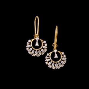 Diamond – Earring – 0.62ct Dia Dangler