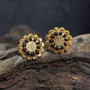 Earring – Lakshmi Kasu Misri Black Bead