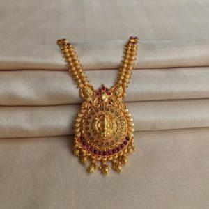 Necklace – Antique Lakshmi with Cob Ruby