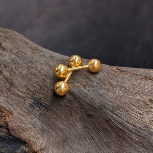 Earring – Plain 5mm Gold Ball Bugudi