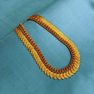 Necklace – Antique Lakshmi Kasu-Misri With Marquise Cob Ruby