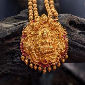 Necklace – Antique 2L Nerigundu Ganch 3L Lakshmi Cob Ruby Pndt